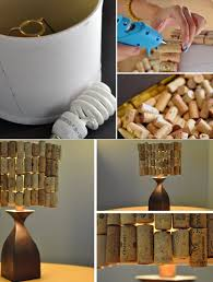 easy wine cork crafts diy decor projects diy lampshade from wine corks diy
