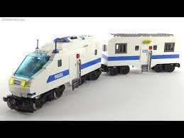 Simple LEGO Police Train (custom / MOC) - YouTube