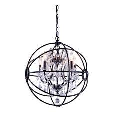 foucaults orb 5 light 20 dark bronze iron orb crystal chandelier rustic iron crystal chandelier large rustic crystal chandelier rustic crystal chandelier