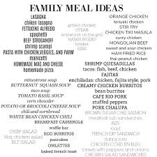Simple Family My Simple Way To Family Meal Plan Brooke Romney Writes