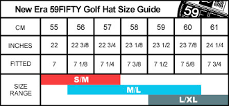 New Era 59fifty Mens Golf Hat Size Guide