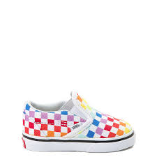Vans Slip On Rainbow Checkerboard Skate Shoe Baby Toddler Multi