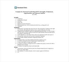 personal swot analysis examples in pdf word personal leadership swot analysis pdf template