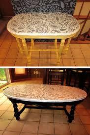 Stenciled kitchen decor DIY table-top