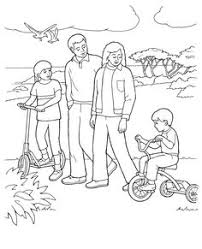 Small Picture Adam and Eve teaching their children Fun Primary coloring page