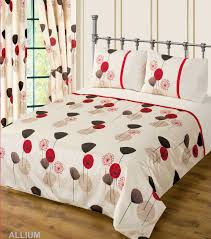 red wine cream colour bedding duvet cover set stylish poppy fl modern design