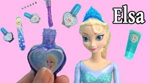 disney frozen queen elsa sparkle make up set nail polish body glitter dress up playset cookieswirlc