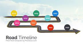 Road Timeline Prezi Next Presentation Template Creatoz Collection
