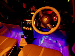 picture of car interior led lighting multicolor