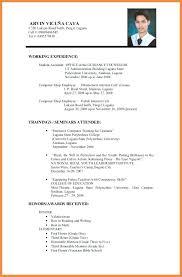 Resume Format Application Resume To Apply Job Resume Application Resume For Teacher Job