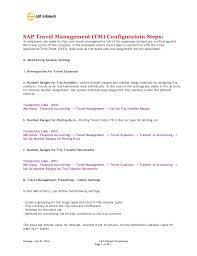 Travel Management Configuration Steps