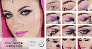 learn to do this indian stani bridal makeup with visual step by step instruction