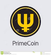 Primecoin Cryptocurrency Colored Logo Stock Vector