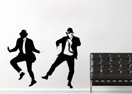 people the blues brothers on top of the police car2 wall stickers on blues brothers wall art with the blues brothers on top of the police car2 people wall stickers