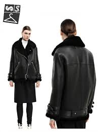 oversized shearling biker jacket 12