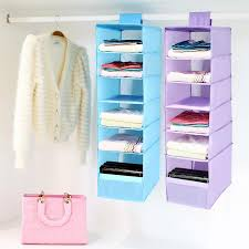 2019 new 9 cells hanging box underwear sorting clothing shoe jean storage mails door wall closet organizer closet organizadores bag from dtanya