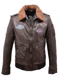 black leather jacket pilot style aviator 10760