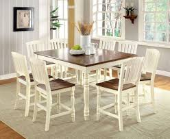 9 Piece Harrisburg Counter Height Dining Set In Vintage Whiteoak