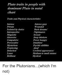 Pluto Traits In People With Dominant Pluto In Natal Chart