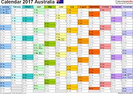 template 1 2017 calendar australia for pdf 1 page months horizontally each