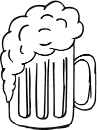mug clipart black and white. black and white beer mug clipart white