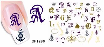 Bittb Nail Art Sticker Fancy Letter Anchor Key Crown Nail Beauty Make Up DIY Manicure Makeup