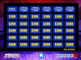 Jeopardy Powerpoint Template With Music Jeopardy