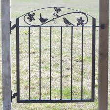 Small Picture Metal Art Iron Garden Gate with Birds and Flowers Iron garden