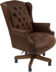 black or brown traditional leather office chair by parker house ph oc 175