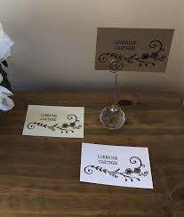 flat place cards personalised flat place name cards wedding boho brown kraft white