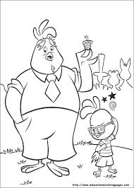 Small Picture Chicken Little Coloring Page Chicken Little Hits The Ball 21