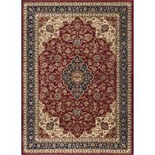 sns4780 5x8 5 x 7 medium navy blue and red area rug sensation