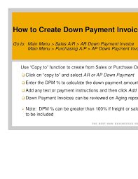 Copy Of Invoices Inspiration Sap Businessonedownpaymentinvoicessetupandprocessing