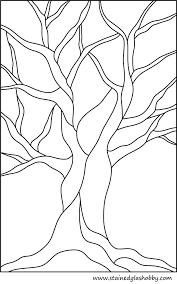 beginner stained glass patterns beginner stained glass patterns autumn tree no leaves stained glass outline easy