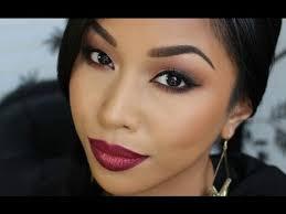 korean insram makeup 인스타그램 메이크업 fall makeup tutorial warm eyes cranberry lips