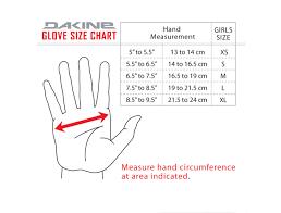 Dakine Bike Glove Size Chart Images Gloves And