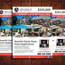 featured listing property design template real estate lead generator open house flyer cr3 4