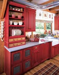 exquisite design black white red. Exquisite Big Red Kitchen Cabinets And Small Glass Window Plus Chic Wooden  Floor Exquisite Design Black White Red T