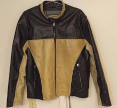 wilsons leather m julian cafe racer motorcycle jacket brown black sz l 1 of 12only 1 available