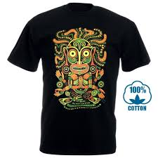 Black Light T Shirts Clothing Idol Mens T Shirt Glow Uv Blacklight Neon Psychedelic Art Goa Festival Trance