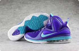 lebron purple shoes. nike lebron 9 basketball shoes summit lake hornets purple grape---001