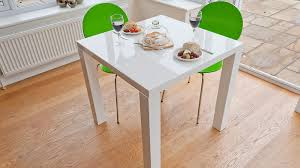 white and green 2 seater dining set small square white gloss dining table