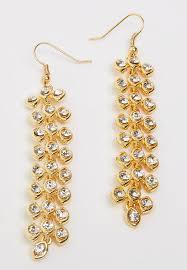 joy collectables diamante chandelier earrings gold