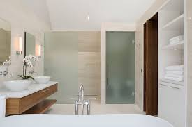 With Frosted Glass Door And Room Divider Plus Oak Bathroom Vanity - Oak bathroom vanity cabinets
