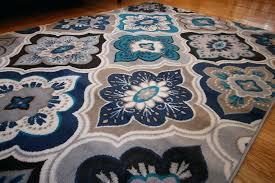 9x12 blue rug new blue beige navy grey aqua teal modern fl diamond area rug home