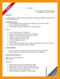 Phlebotomy Resume Sample Duties Cover Letter Examples