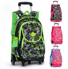 lovely printing trolley bags for s backpack kids book bag on wheels primary satchel