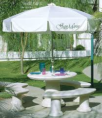 mod series table classic round outdoor concrete tables