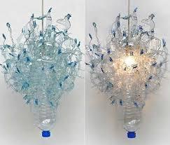 soda bottle chandelier