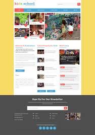 Kids School Website Template Kids School A Education Flat Bootstrap Responsive Web Template